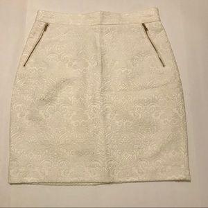 H&M Textured pencil skirt with golden zippers
